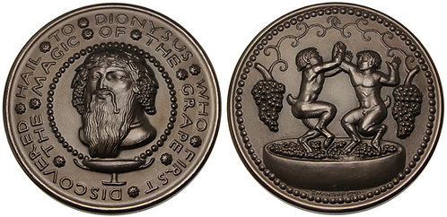 100095  |  UNITED STATES. Hail to Dionysus bronze Medal.