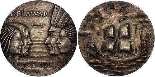 100253     UNITED STATES & SWEDEN. Silver Medal.