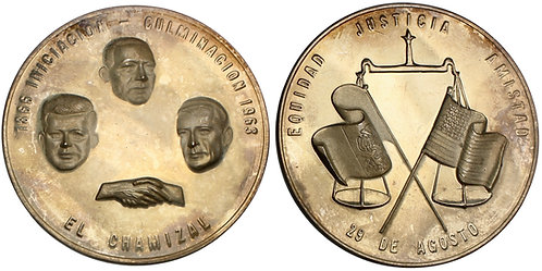 101582  |  UNITED STATES & MEXICO. Return of El Chamizal silver Medal.