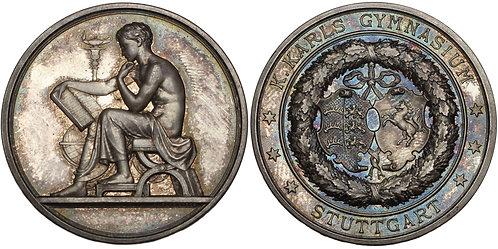 100718     GERMANY. Stuttgart silver Prize Medal.