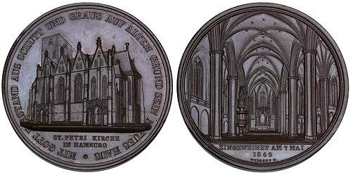 101614     GERMANY. Hamburg. St. Peter's Church bronze Medal.