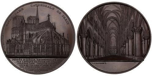 101048  |  FRANCE. Paris. Notre-Dame Cathedral bronze Medal.
