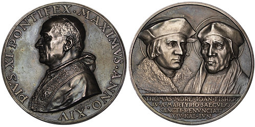 101106     ITALY. Vatican City. Pope Pius XI silver Medal.