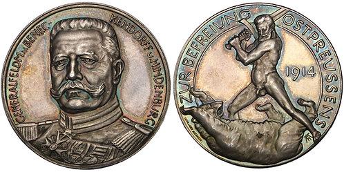 100720     GERMANY. Generalfeldmarschall Paul von Hindenburg silver Medal.
