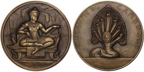101005  |  CAMBODIA & FRANCE. Bronze Medal.
