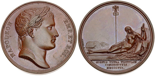100045 | FRANCE/POLAND. Napoleon I bronze Medal.