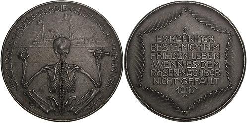 100650  |  GERMANY. Totentanz satirical cast iron Medal.