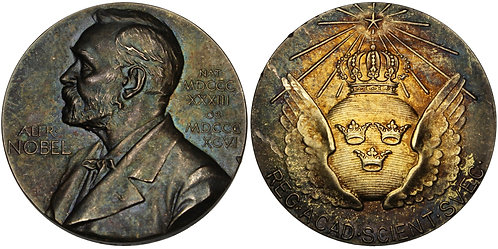 101148  |  SWEDEN. Alfred Nobel silver Award Medal.