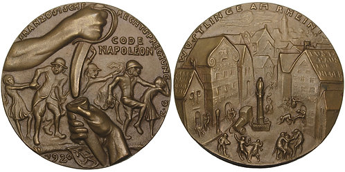 "100960  |  GERMANY & FRANCE. ""Black Shame"" cast bronze Medal."
