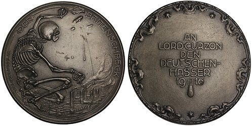 100825  |  GERMANY & GREAT BRITAIN. Satirical cast iron Medal.
