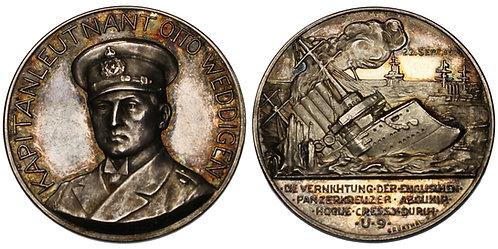 100168  |  GERMANY. Lieutenant Otto Eduard Weddigen silver Medal.