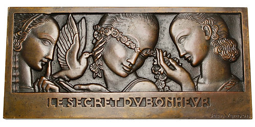 101423  |  FRANCE. Art Deco uniface bronze Plaque.