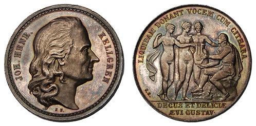 100091  |  SWEDEN. Johan Henrik Kelgren silver Medal.
