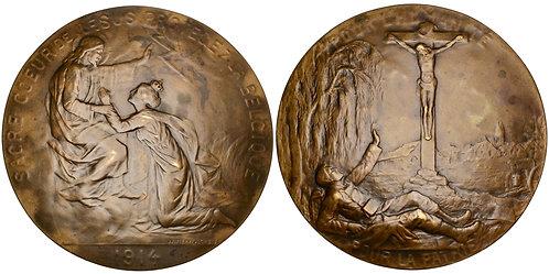 101386  |  BELGIUM. Sacred Heart of Jesus bronze Medal.