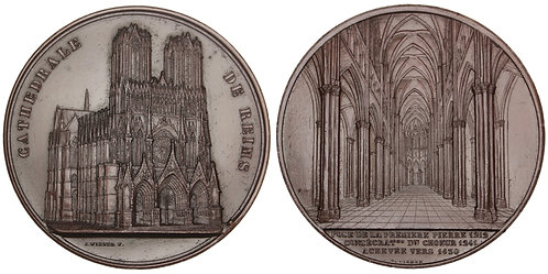 101036     FRANCE. Reims Cathedral bronze Medal.