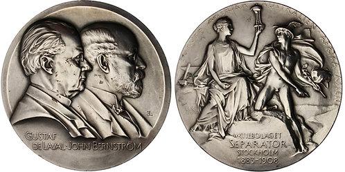 101377  |  SWEDEN. Gustaf de Laval & John Bernström silver Medal.