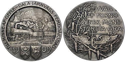 101663     SWEDEN. Railroad silver Medal.