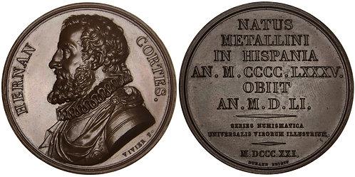 101246  |  SPAIN & FRANCE. Hernán Cortés bronze Medal.