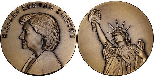 100368     UNITED STATES. Hillary Rodham Clinton bronze Medal.
