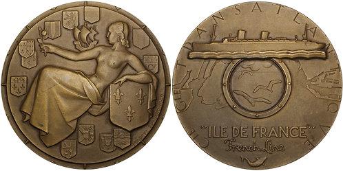 100263  |  FRANCE. Compagnie Générale Transatlantique bronze Medal.