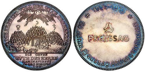101382  |  GERMANY. Braunschweig-Wolfenbüttel. Mining silver Medal.