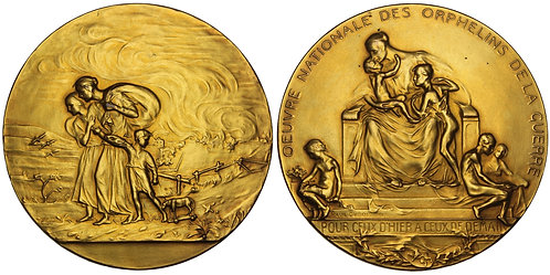 100898  |  BELGIUM. Orphans of the War gilt bronze Medal.
