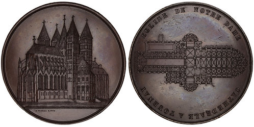101027  |  BELGIUM. Tornai. Cathedral of Our Lady bronze Medal.