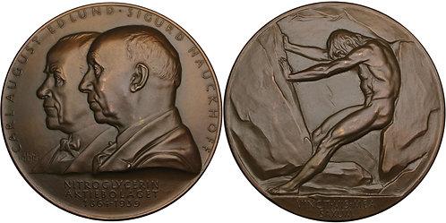 100334  |  SWEDEN. Carl August Edlund & Sigurd Nauckhoff bronze Medal.
