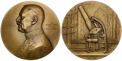 101410  |  AUSTRIA. Alexander Freiherr von Krobatin bronze Medal.