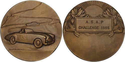 100520  |  FRANCE. Auto Racing bronze Award Medal.
