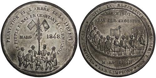 100847  |  FRANCE. Satirical tin Medal.