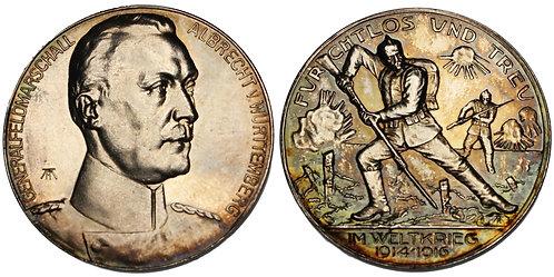 100165  |  GERMANY. Field Marshal Albrect, Duke of Württemberg, silver Medal.