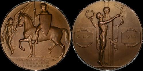 100676     AUSTRIA. Athletic Association bronze award Medal.