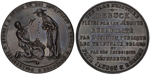 "101265  |  BELGIUM. ""L'affaire de Buck"" satirical bronze Medal."