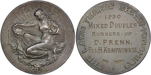101102  |  GREAT BRITAIN & GERMANY. Hilde Sperling silver Wimbledon Award Medal.