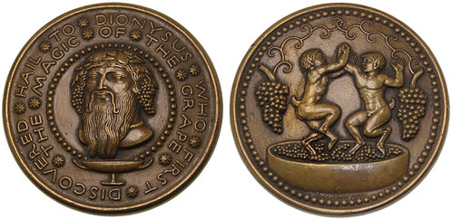 100087  |  UNITED STATES. Hail to Dionysus bronze Medal.