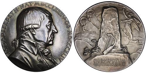101017  |  SWEDEN. Jakob Adlerbeth silver Medal.