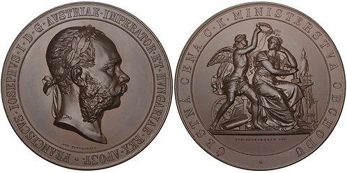 100662  |  AUSTRIA-HUNGARY. Franz Joseph I bronze Award Medal.