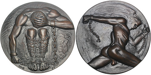 "101704  |  GREAT BRITAIN. ""Prisoner of Conscience"" cast bronze Medal."