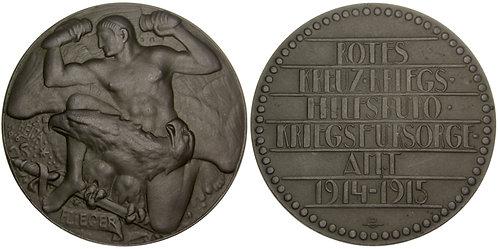 101299  |  AUSTRIA. The Aviator zinc Medal.