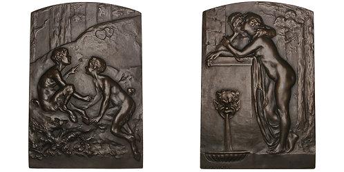 101167  |  FRANCE. Art Nouveau bronze Plaque.