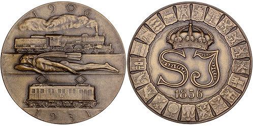 101591     SWEDEN. Railroad bronze Medal.