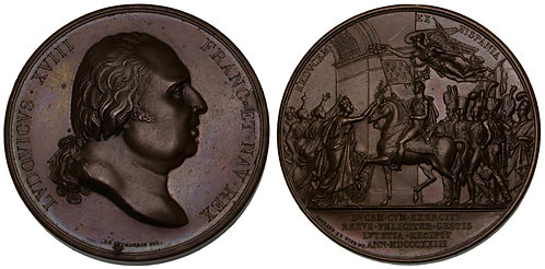 100107  |  FRANCE. Louis XVIII bronze Medal.