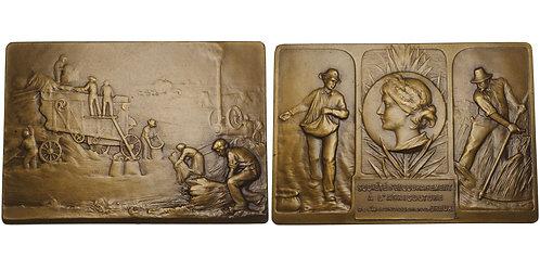100786  |  FRANCE. Dreux. Agricultural bronze Award Plaque.