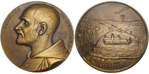 100707  |  FRANCE. Blessed Father Charles Eugène de Foucauld bronze Medal.