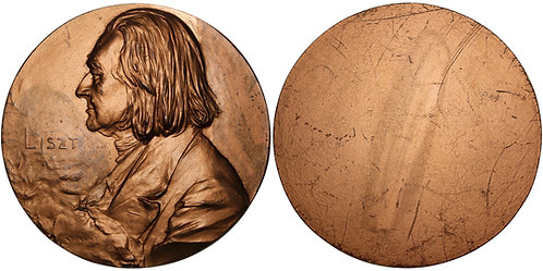 100280  |  HUNGARY. Franz Liszt cast uniface bronze Medal.