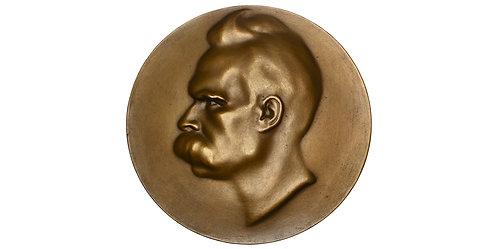 101537  |  GERMANY & AUSTRIA. Friedrich Nietzsche uniface bronze Medal.