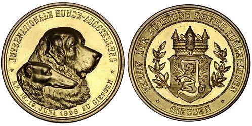 101620     GERMANY. Giessen. Purebred Association gilt bronze award Medal.
