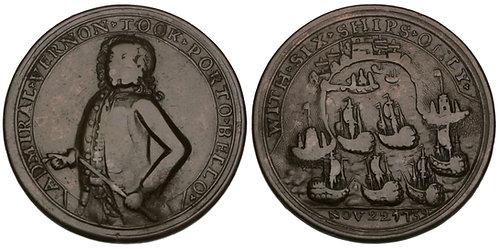 101107  |  UNITED STATES, GREAT BRITAIN & SPAIN. Adm Edward Vernon bronze Medal.