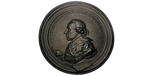 101488     GERMANY. Moses Mendelssohn uniface cast iron Medal.